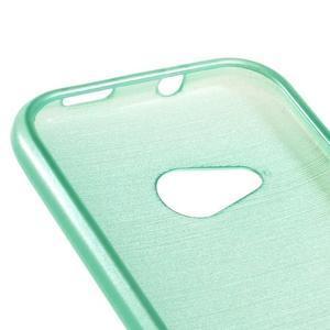 Broušený gelový obal na HTC One mini 2 - cyan - 3