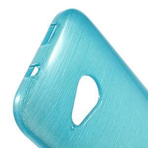 Broušený gelový obal na HTC One mini 2 - světle modrý - 3
