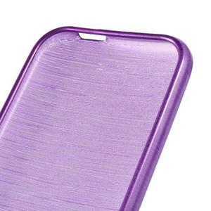 Broušený gelový obal na HTC One mini 2 - fialový - 3