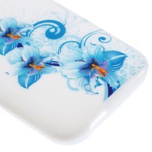 Gelový kryt na HTC One mini 2 - modrá lilie - 3
