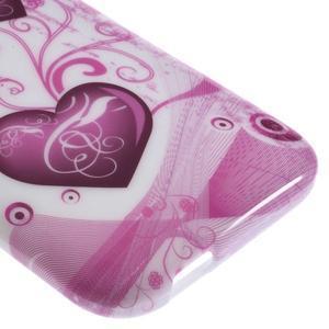 Gelový kryt na HTC One mini 2 - srdíčka - 3