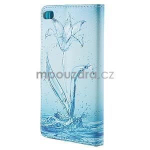 Peněženkové pouzdro Huawei Ascend P8 - vodní květ - 3