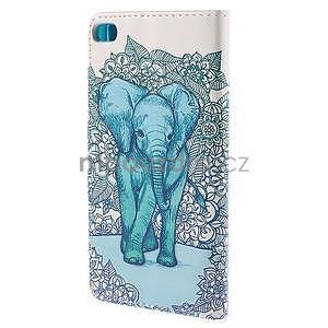 Peněženkové pouzdro Huawei Ascend P8 - modrý slon - 3