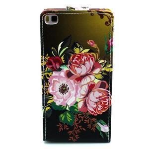 Flipové pouzdro pro Huawei Ascend P8 - kvetoucí květiny - 3