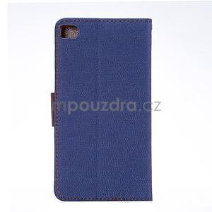 Stylové peněženkové pouzdro Jeans na Huawei Ascend P8 - tmavě modré - 3