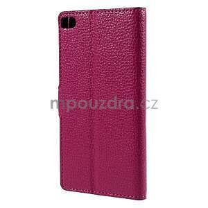 Peněženkové PU kožené pouzdro Huawei Ascend P8 - rose - 3