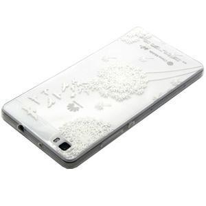 Transparentní gelový obal na Huawei Ascend P8 Lite - pampeliška - 3