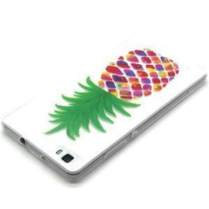 Transparentní gelový obal na Huawei Ascend P8 Lite - ananas - 3