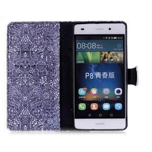 Pouzdro na mobil Huawei P8 Lite - textury květin - 3