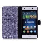 Pouzdro na mobil Huawei P8 Lite - textury květin - 3/7