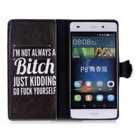 Pouzdro na mobil Huawei P8 Lite - bitch - 3/6