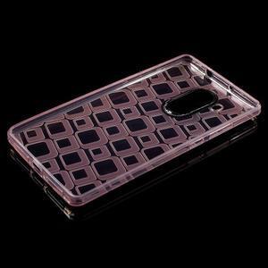 Square gelový obal na Huawei Mate 8 - růžový - 3