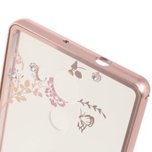 Kovový obal s plastovými zády na Huawei Mate 8 - zlatorůžový - 3