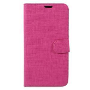 Clothy PU kožené pouzdro na Huawei Mate 8 - rose - 3