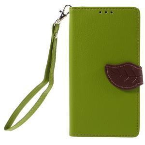 Knížkové PU kožené pouzdro na mobil Huawei Mate S - zelené - 3