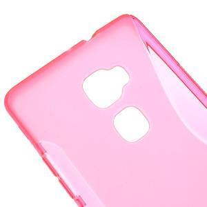 S-line gelový obal na mobil Huawei Mate S - rose - 3