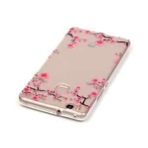 Průhledný gelový obal na mobil Huawei P9 Lite - květoucí strom - 3