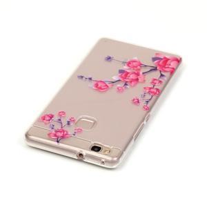 Průhledný gelový obal na mobil Huawei P9 Lite - kvetoucí růže - 3