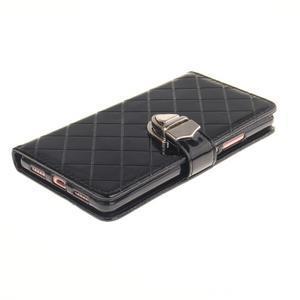 Luxury PU kožené peněženkové pouzdro na Huawei P9 Lite - černé - 3