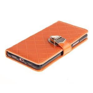 Luxury PU kožené peněženkové pouzdro na Huawei P9 Lite - oranžové - 3