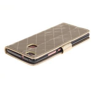 Luxury PU kožené peněženkové pouzdro na Huawei P9 Lite - zlaté - 3