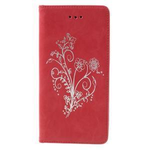 Klopové pouzdro na mobil Huawei P9 Lite - červené - 3