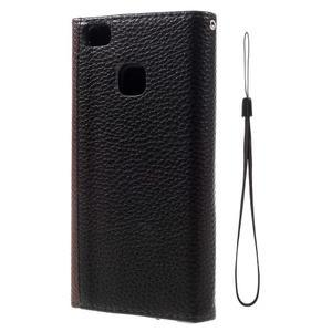 Peněženkové pouzdro na mobil Huawei P9 Lite - hnědé/černé - 3