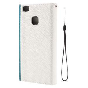 Peněženkové pouzdro na mobil Huawei P9 Lite - modrozelené/bílé - 3