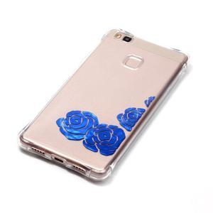 Lacqe gelový obal na Huawei P9 Lite - modré růže - 3