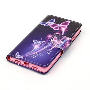 Patter PU kožené pouzdro na mobil Huawei P9 Lite - kouzelní motýlci - 3