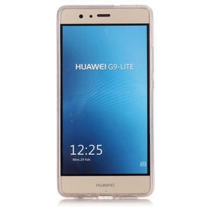 Gradient třpytivý gelový obal na Huawei P9 Lite - šedý - 3