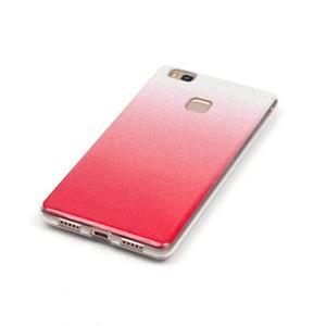 Gradient třpytivý gelový obal na Huawei P9 Lite - rose - 3