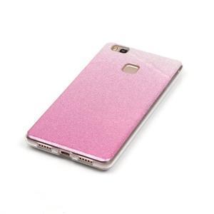 Gradient třpytivý gelový obal na Huawei P9 Lite - růžový - 3