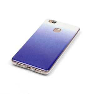 Gradient třpytivý gelový obal na Huawei P9 Lite - tmavěmodrý - 3