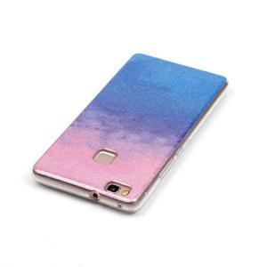 Gradient třpytivý gelový obal na Huawei P9 Lite - růžový/modrý - 3