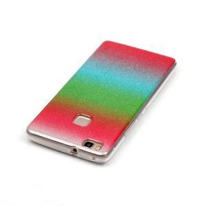 Gradient třpytivý gelový obal na Huawei P9 Lite - mix barev I - 3