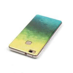 Gradient třpytivý gelový obal na Huawei P9 Lite - mix barev II - 3