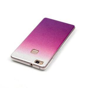 Gradient třpytivý gelový obal na Huawei P9 Lite - stříbrný/fialový - 3