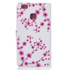Knížkové pouzdro s motivem na Huawei P9 Lite - kvetoucí švestka - 3