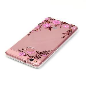 Transparentní obal na telefon Huawei P9 Lite - květinky - 3