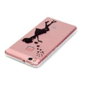 Transparentní obal na telefon Huawei P9 Lite - květinová dívka - 3