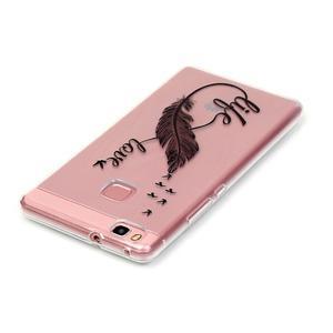 Transparentní obal na telefon Huawei P9 Lite - love - 3