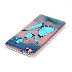 Transparentní obal na telefon Huawei P9 Lite - motýlci - 3