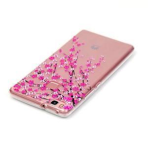 Transparentní obal na telefon Huawei P9 Lite - kvetoucí třešeň - 3