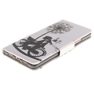 Lethy knížkové pouzdro na telefon Huawei P9 Lite - láska na kole - 3