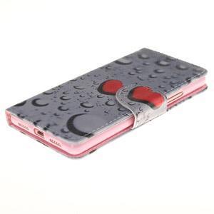 Lethy knížkové pouzdro na telefon Huawei P9 Lite - srdíčka - 3