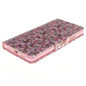 Lethy knížkové pouzdro na telefon Huawei P9 Lite - koláž růží - 3
