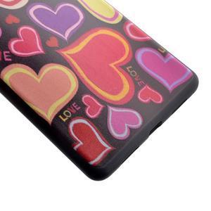 Gelový obal na telefon Huawei P9 Lite - srdíčka - 3
