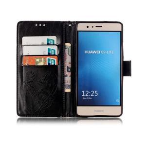 Magicfly knížkové pouzdro na telefon Huawei P9 Lite - černé - 3