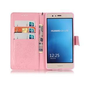 Magicfly knížkové pouzdro na telefon Huawei P9 Lite - růžové - 3